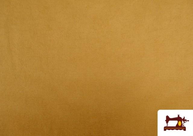 Punto de Terciopelo Estilo Pana color Mostaza