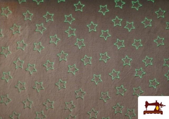 Venta online de Tela de Coralina Suave Estampado Estrellas Brillantes a la Oscuridad