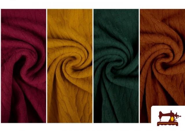 Comprar Tela de Jersey Tricot Dibujo Tejido Cadenas
