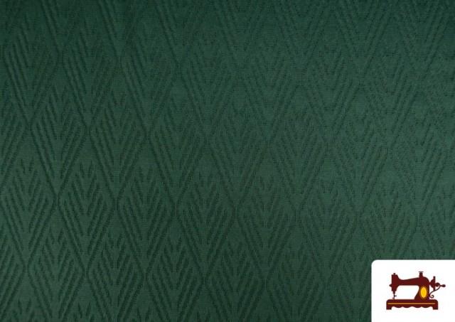 Comprar Tela de Jersey Tricot Dibujo Tejido Étnico color Verde botella