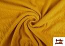 Venta de Tela de Jersey Tricot Dibujo Tejido Étnico color Mostaza