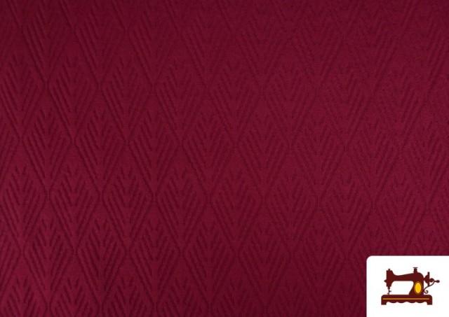 Venta online de Tela de Jersey Tricot Dibujo Tejido Étnico color Granate