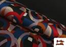 Tela de Punto Roma Estampado Multicolor