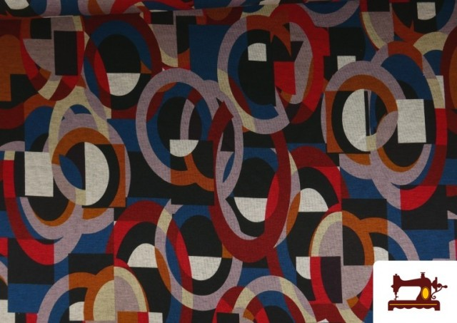 Comprar Tela de Punto Roma Estampado Multicolor