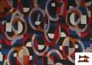 Venta de Tela de Punto Roma Estampado Multicolor