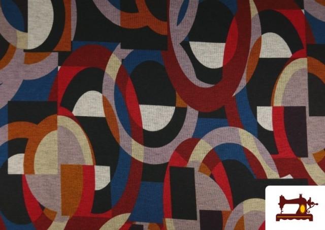 Comprar online Tela de Punto Roma Estampado Multicolor