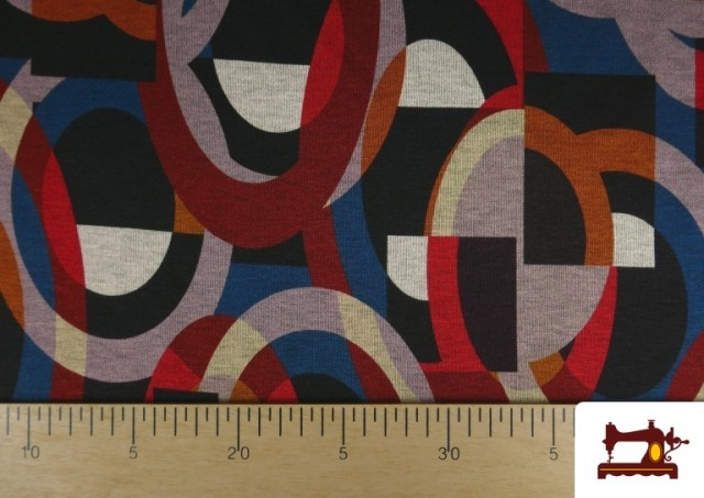 Venta online de Tela de Punto Roma Estampado Multicolor