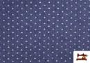 Comprar Tela Tejana Estampado Geométrico Triangulitos color Azul