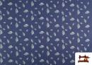 Comprar Tela Tejana Estampado Hojas color Azul