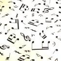 Comprar Tela con notas musicales