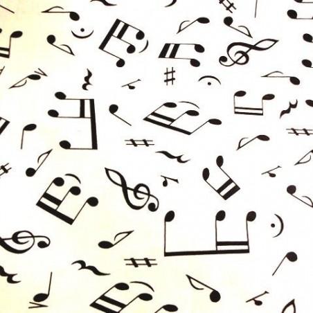 Tela con Notas Musicales