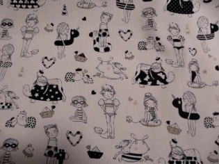 Comprar tela de pique infantil estampada