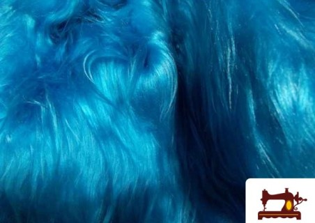 Tela de pelo largo turquesa