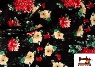 Venta de Tela de Flores para Traje de Flamenca