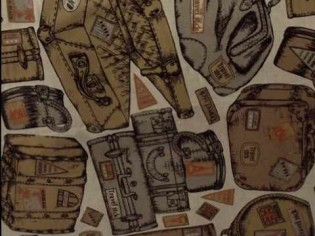 Comprar Tela de Bolsas y Maletas de Viaje Antiguas