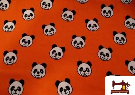 Comprar Tela de Camiseta con Dibujos de OSOS PANDAS