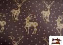 Compara tela de Navidad con Renos