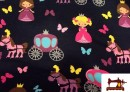 Tela de punto Camiseta estampado de Princesas
