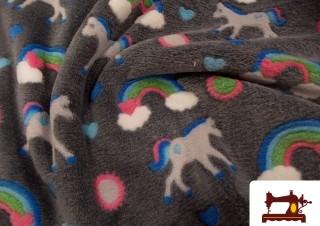 Comprar tela de mantas infantiles con unicornios