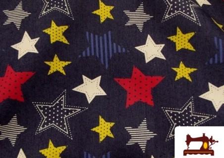 Tela Tejano Estrellas Multicolor