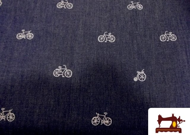 Comprar Tela Tejano Fino Estampado con Bicicletas