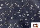 Comprar Tela de Punto de Chandal  reversible de estrellas