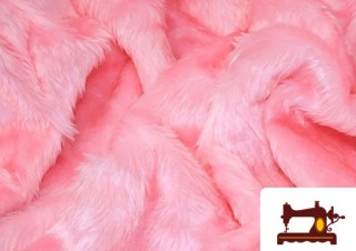 Comprar tela de pelo corto color rosa