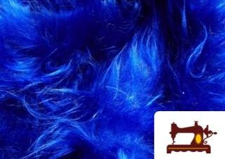 Tela de Pelo Largo Azul Eléctrico
