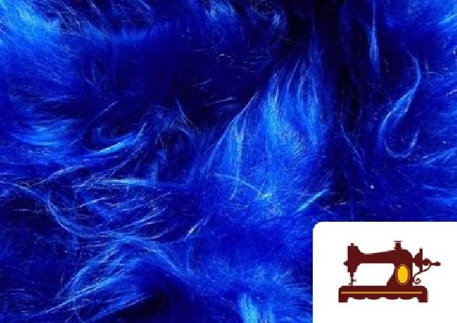 Comprar Tela de Pelo Largo Azul Electrico