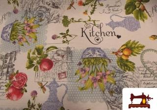 Comprar tela Antimanchas con Teflón Estampada con Motivos de Cocina