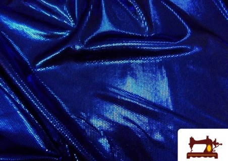 Tela de Licra Fantasía Brillo Tornasol color Azulón