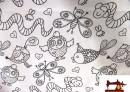 Comprar Tela Estampada Infantil Decoración para Pintar