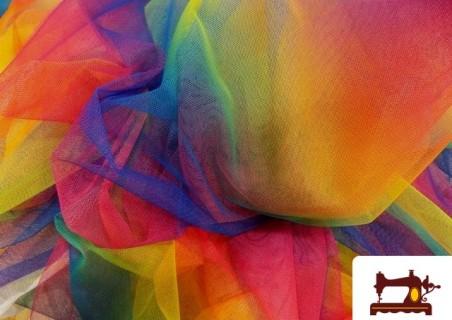 Tela de Tul de Fantasía Tornasolado Multicolor