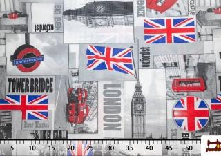 Comprar Tela de Loneta Iconografía Londres