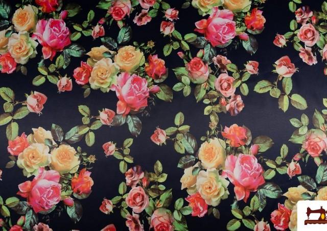 Comprar Estampado floral de Algodón con Licra