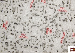 Tela de Navidad para Mantel y Decoración con Brillo