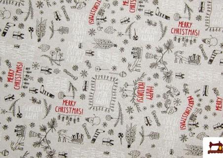 Tela de Navidad para Mantelería y Decoración con Brillo