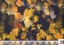 Tela de Algodón Estampado Negro con Flores