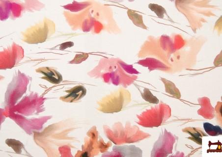 Tela Algodón Estampado Floral Tonos Suaves