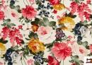 Tela con Estampado Floral Multicolor