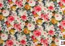 Comprar online Tela con Estampado Floral Multicolor