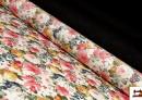Venta online de Tela con Estampado Floral Multicolor