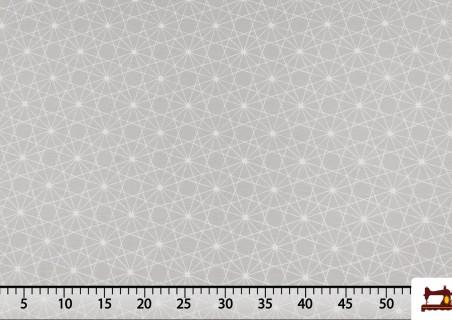 Tela Estampada con Dibujos Geométricos