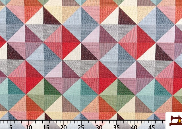 Tela de Tapicería Tejida Gobelino con Hilos de Colores
