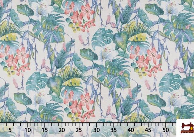 Tela de Decoración Estampado Floral Multicolor