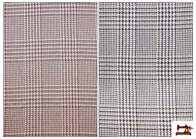 Venta online de Tela de Cuadros Gales y Pata de Gallo Coordinados color Beige