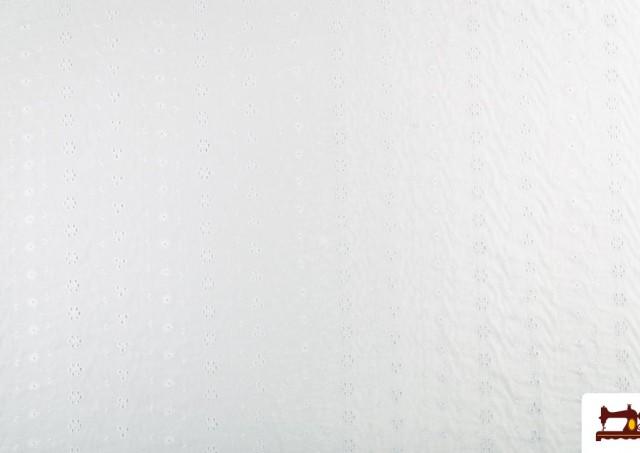 Venta de Tela de Batista Bordada Calada Blanca