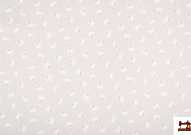 Tela de Algodón infantil Estampado de Conejos