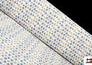 Tela de Punto Camiseta Estampada con Dibujos Geométricos