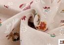 Venta online de Outlet - Tela Loneta Estampada de la Navidad